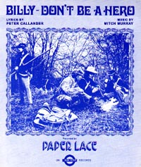 Billy Don't Be A Hero - Paper Lace